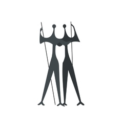 Sculpture of two warriors by artist bruno giorgi vector