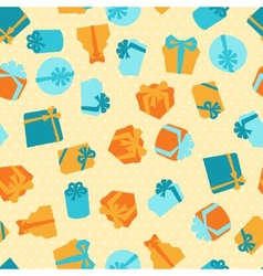 Seamless celebration pattern with colorful gift vector image vector image