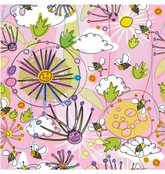 seamless floral backgroundo vector image vector image