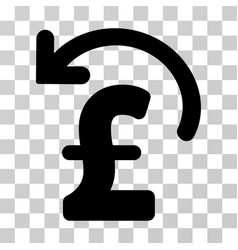 Undo pound payment icon vector