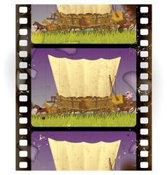 Vintage western film vector