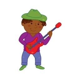 Cartoon musician kid for vector