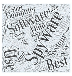 Best free spyware remover word cloud concept vector