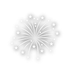 Ceremony fireworks on white background vector