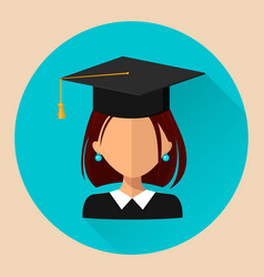 student girl flat style beautiful icon avatar eps vector image