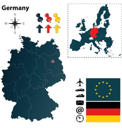 Germany and european union map vector