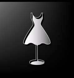 Mannequin with dress sign  gray 3d printed vector