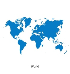 Detailed map of world vector