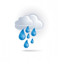White cloud and drops vector