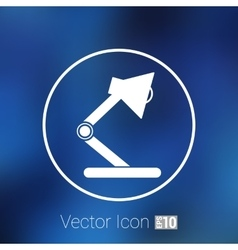 Reading lamp single flat icon vector