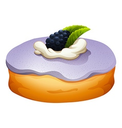 Doughnut with blackberry flovor vector
