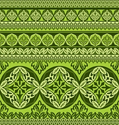 Green flower ornament vector