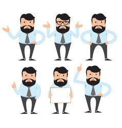 a businessman a teacher a man with a beard and a vector image