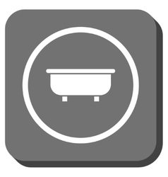 Bathtub rounded square icon vector