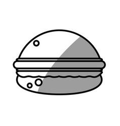 Burger food picnic shadow vector