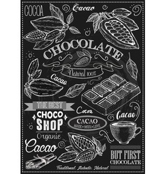 Cacao icon set vector