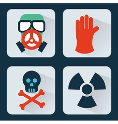Caution icons vector