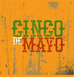 cinco de mayo 5 of may holiday cinco de mayo vector image