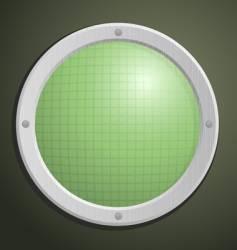 circular radar vector image