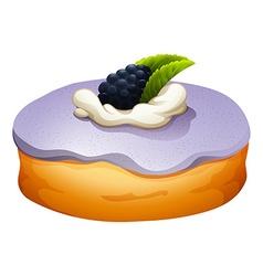 Doughnut with blackberry flovor vector