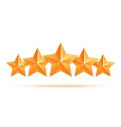 Five 3d gold stars premium The best reward vector image