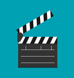 Flat clapboard icon vector