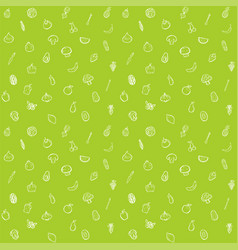 fruit and vegetable seamless pattern background vector image vector image