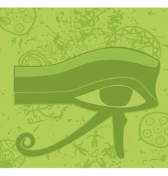 Grunge egyptian eye of horus ancient deity vector