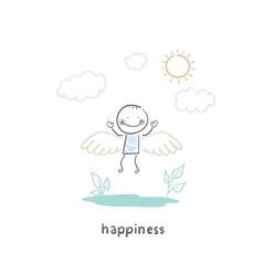 Happy people vector image vector image