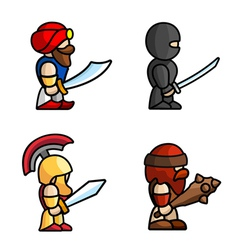 Historical battle characters vector image