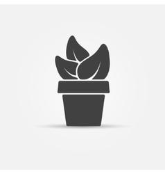 Houseplant icon vector