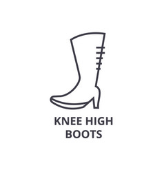 knee high boots line icon outline sign linear vector image vector image
