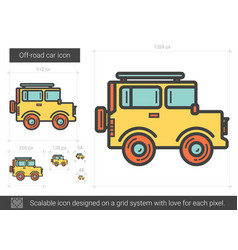 Off-road car line icon vector