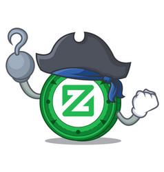 Pirate zcoin character cartoon style vector