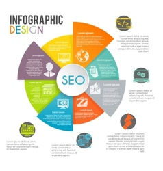 Seo internet marketing infographics vector