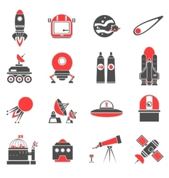 Space Icons Set vector image vector image