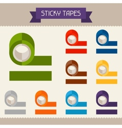 Sticky tapes colored templates for your design in vector