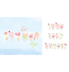 summer background june july august ice cream vector image