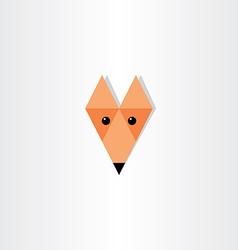 triangles fox head icon design vector image