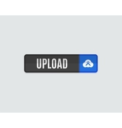 Upload web button flat design vector