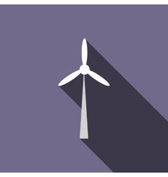 Wind turbine icon flat style vector image