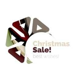 Christmas and new year sale banner vector
