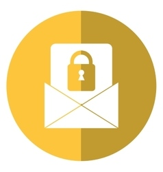 email message security system technology shadow vector image