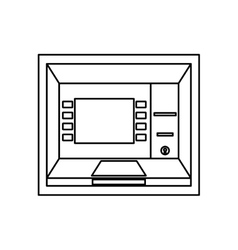Electronic dispenser cash isolated icon vector