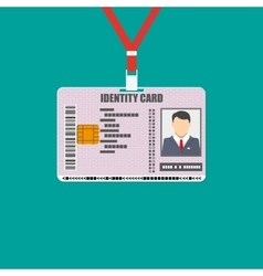 Id card with lanyard national identity vector