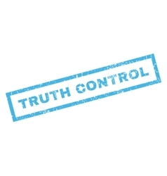 Truth control rubber stamp vector