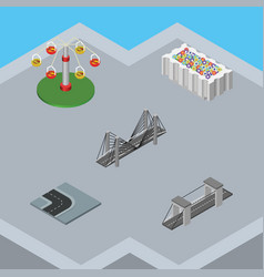 Isometric urban set of swing attraction turning vector