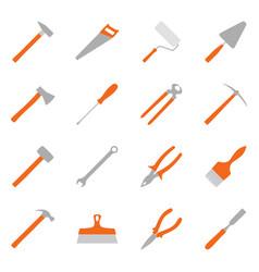 Set of color construction tools vector