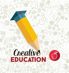 Creative education concept vector