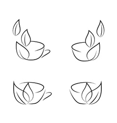 cups icons vector image